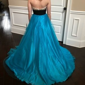 Johnathan Kayne Dresses - Johnathan Kayne Stoned Halter Pageant Prom Gown